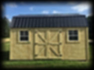 10x16 Lofted Yoder Shed black metal roof