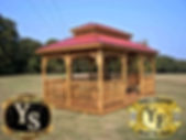 12x16 Rectangle Gazebo stained with doub