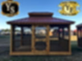 12x16 Screened Gazebo with doble roof an