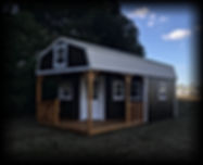 12x24 Deluxe Porched Cabin Yoder Shed.jp