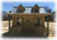 12x12 Custom Playhouse, Dormers, Full Loft, Windows, Rails, Shutters, Flower Boxes, Ladder, Stairs, Doll House Silver metal Roof