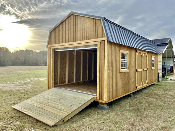 12x24 Lofted Barn Garage