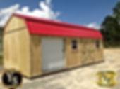 12x28 Side Lofted Garage with 2 windows