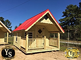 8x12 Standard Playhouse with american re