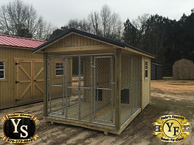 8x14 two run dog kennel with 2 windows a