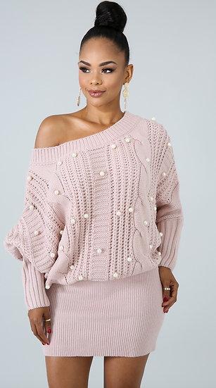 Sweater Pearl Dress
