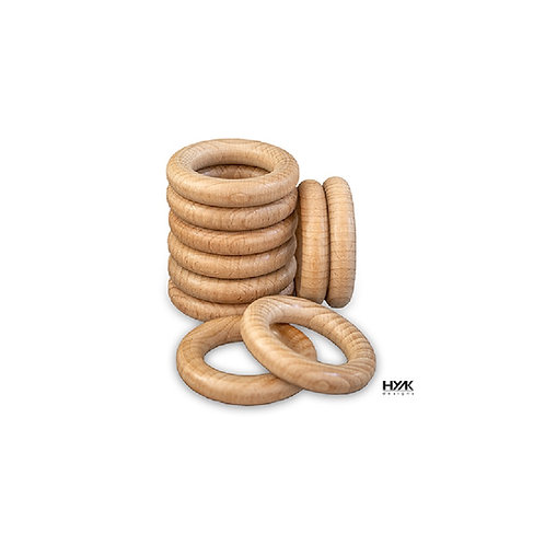 10 of The Safest Natural Smooth Finished Beech Wood Rings for DIY Crafts