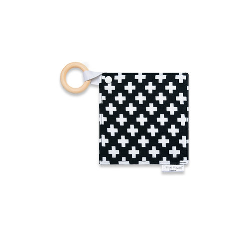 Crinkle Paper for Babies - Swiss Cross Teether