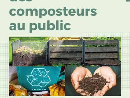 Annonce : L'ouverture des composteurs au public