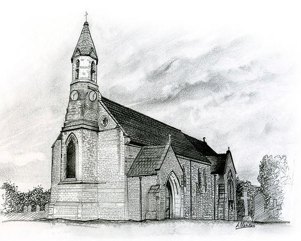 Dalton Church Thirsk North Yorkshire Illustraedd