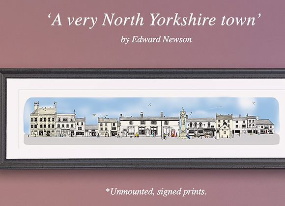 'A very North Yorkshire town' - Sky blue (large)