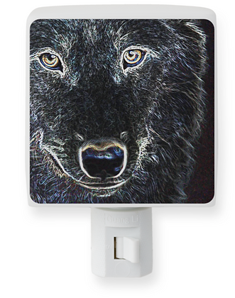Neon Wolf Night Light