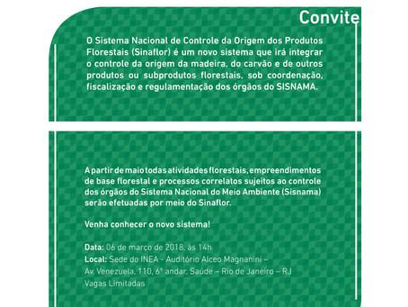 Participe do Workshop sobre oSistema Nacional de Controle da Origem dos Produtos Florestais (SINAFL