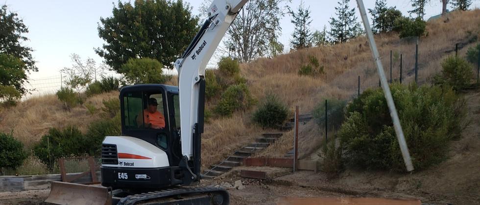 removing debris on demolition project