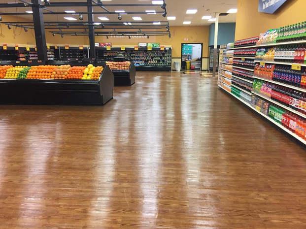 Super Market floor cleaning