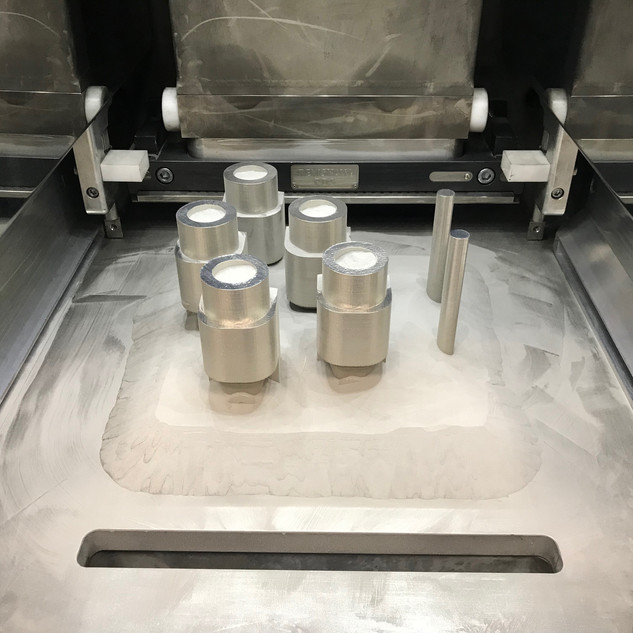 additive manufacturing parts in the powder