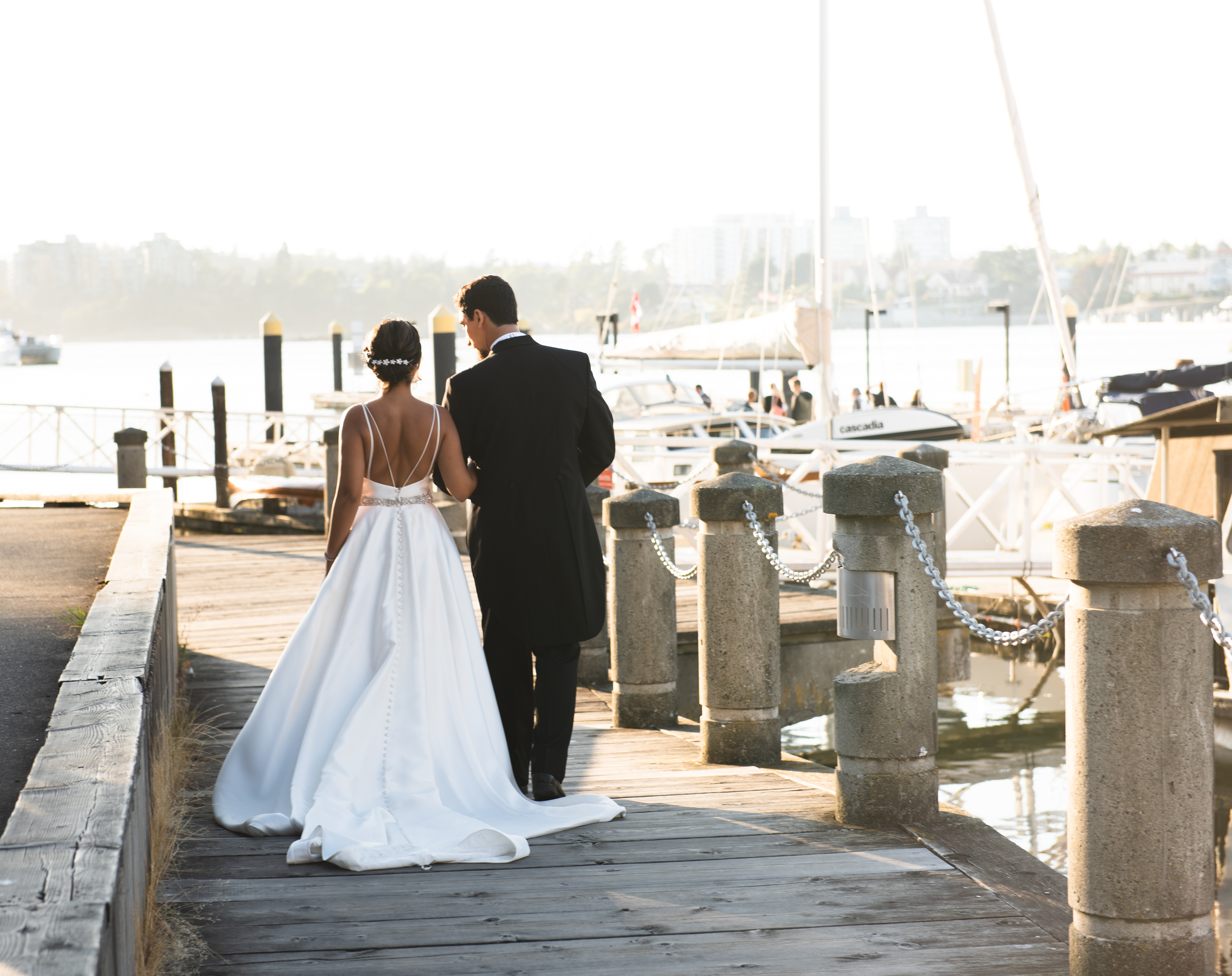 harbour boats wedding nautical
