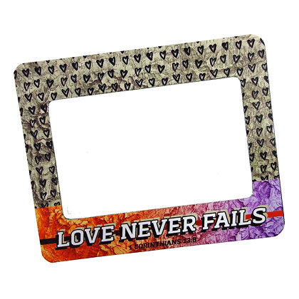 Love Never Fails Magnetic Frame