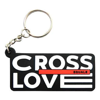 Cross Equals Love Keychain