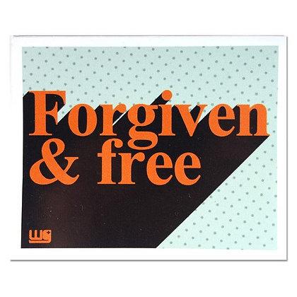 Sticker Forgiven & Free Short