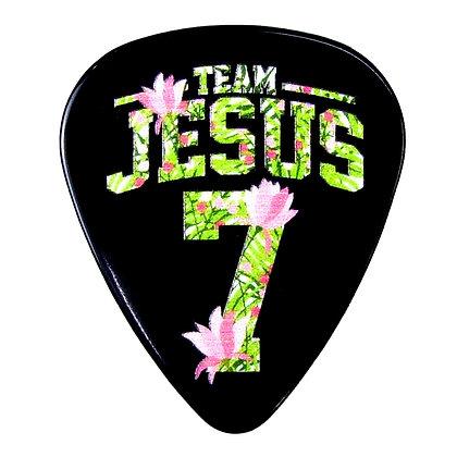 Team Jesus Floral Guitar Pick