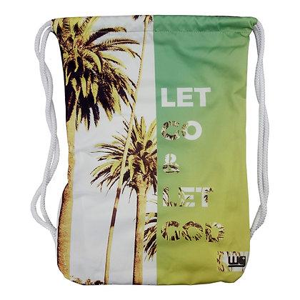 Let Go And Let God Cinch Bag