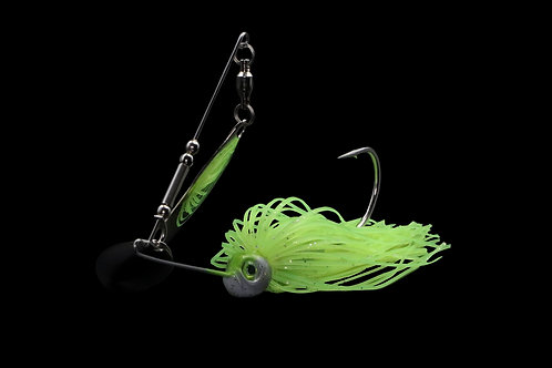 Chartreuse w/ Double Nickel Willow Blade Spinnerbait