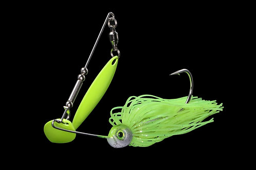 Chartreuse w/ Chartreuse Double Willow Spinnerbait