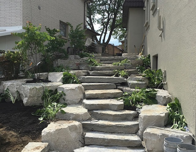 Armour Stone Steps - Before & After Shot