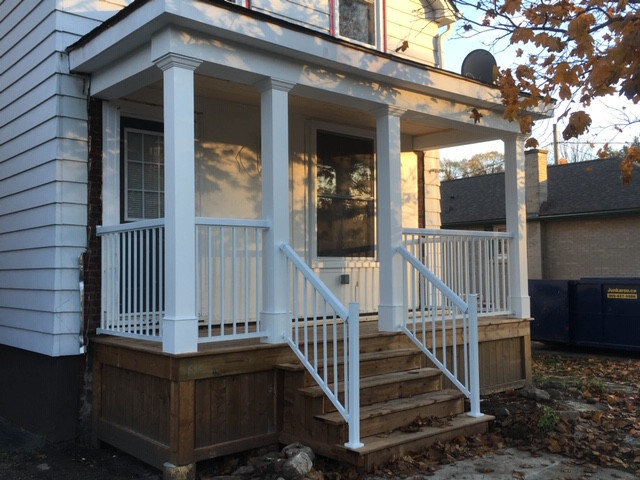Front Porch Renovation Before and After