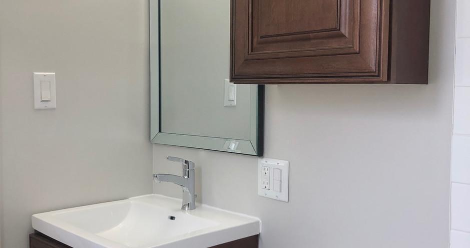 Tiny House Project - Custom Wood Cabinet Bathroom Renovation FWHG