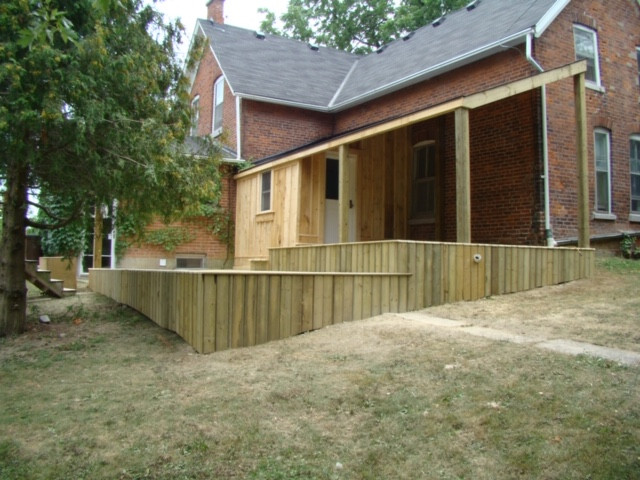 Farmhouse Back Deck Project - Before & After