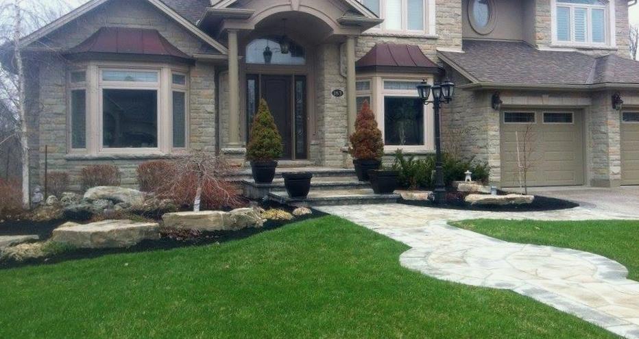 Custom Built Stone Home, Landscaping by FWHG