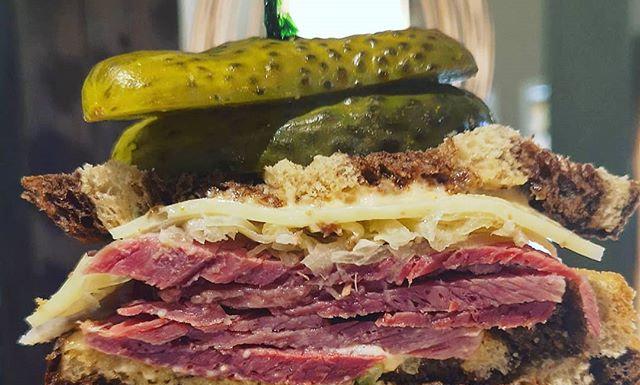 Corned Beef on Rye Sandwich