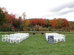 Fall foliage provides a gorgeous backdrop for this wedding at Sharp Farm!