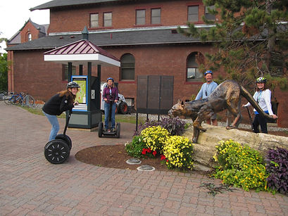 Segway tour at UVM