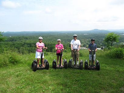 An offroad Segway tour at Sharp Park, Vemont.