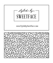 Styled by Sweetface Business Card Option