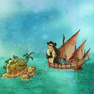 Columbus objevuje Kajmanské ostrovy