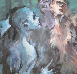 le Sphinx encre,acrylique 71x70