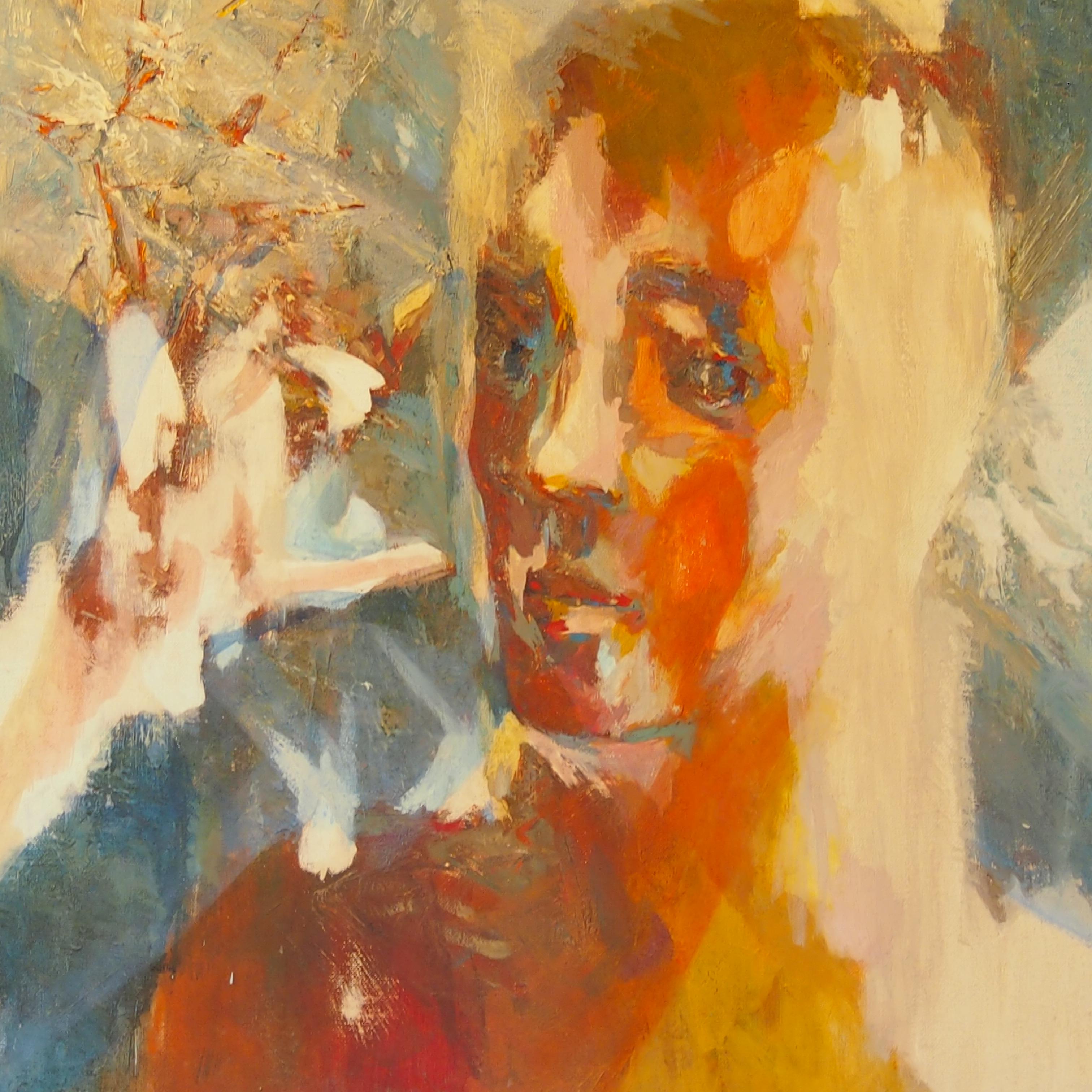 Martyre huile sur toile 48x45