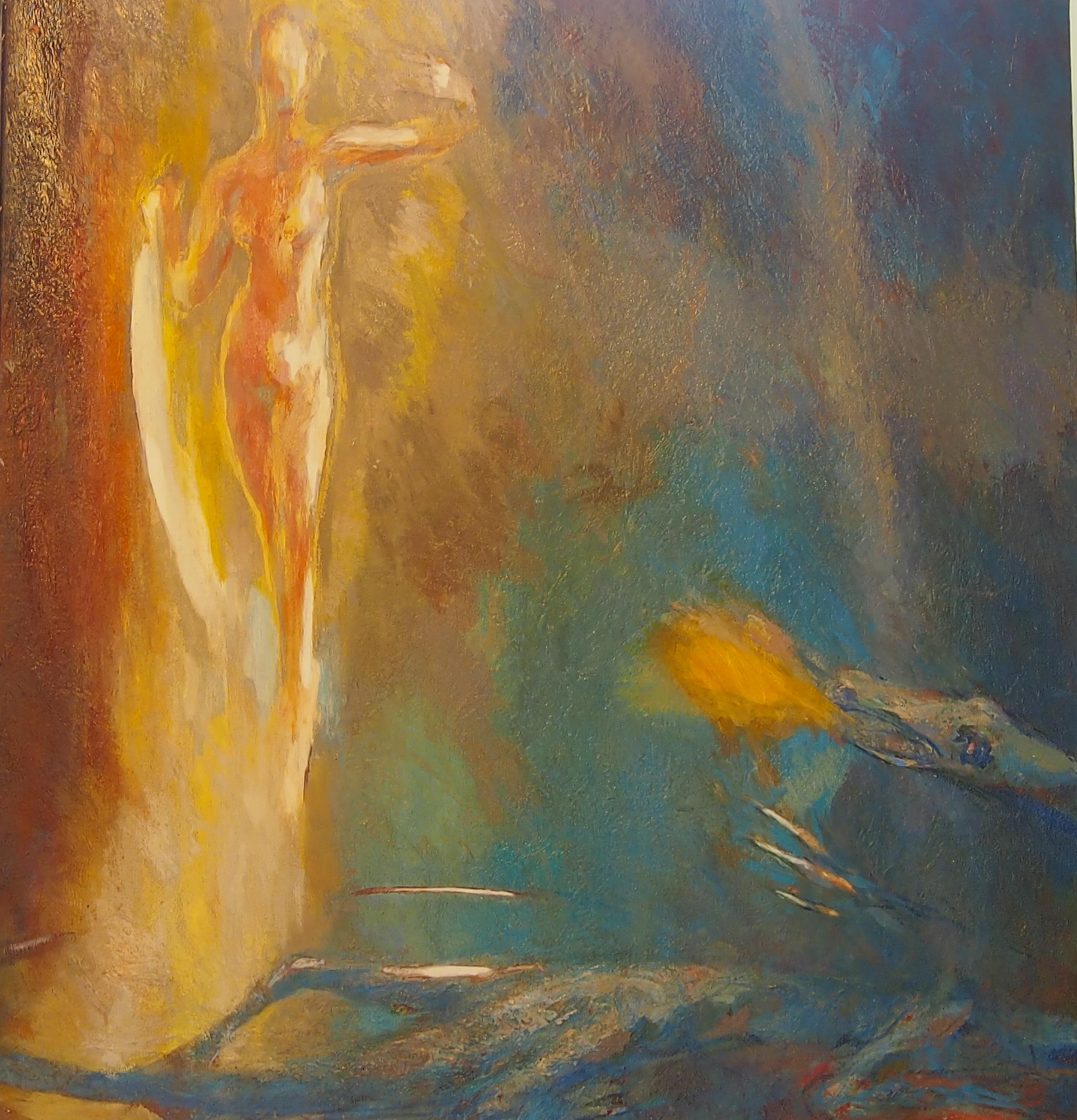 Lune sur Dragon huile sur toile 104x96