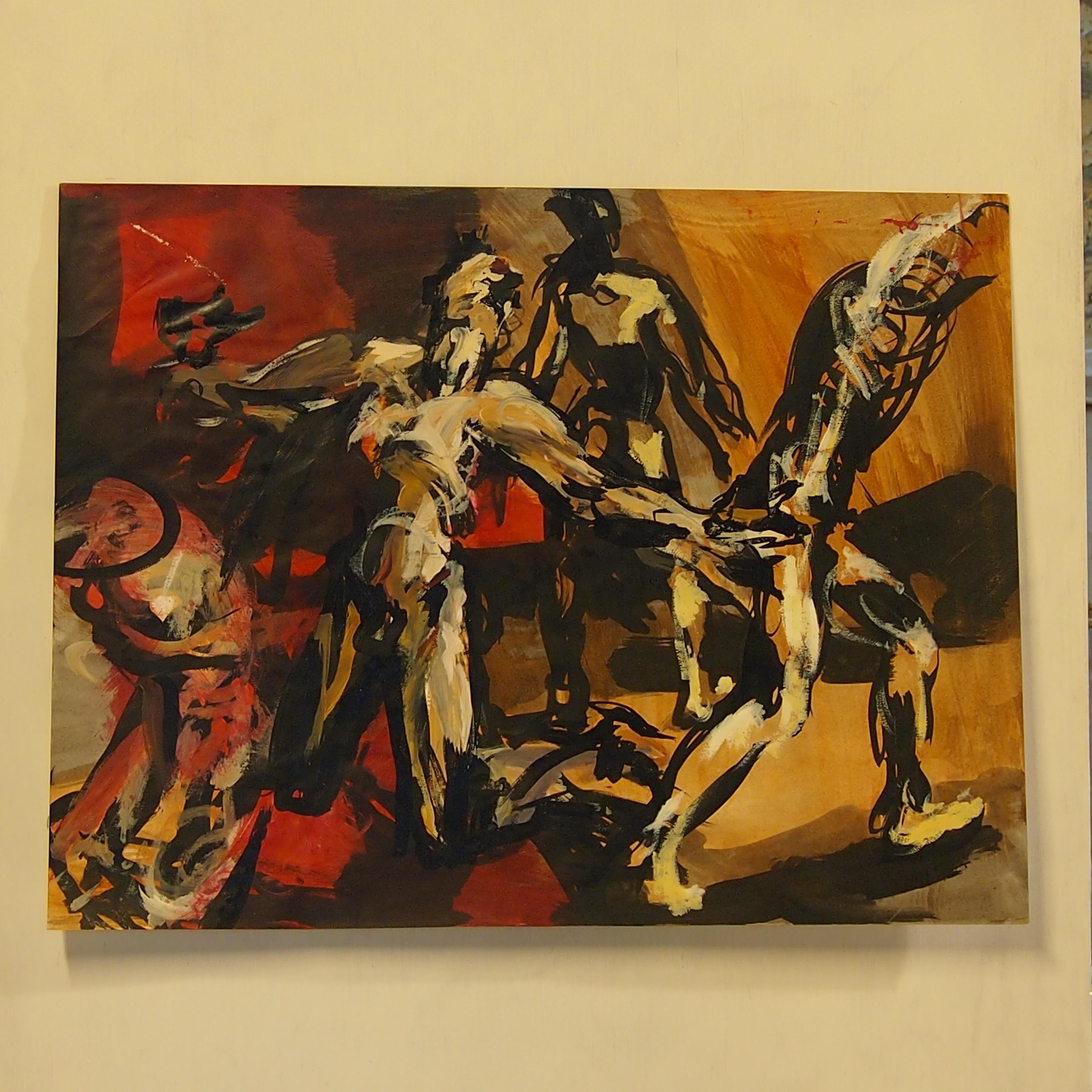 la guerre encre, acrylique sur papier 65x50