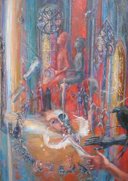 Concert Templier huile sur toile 92x65