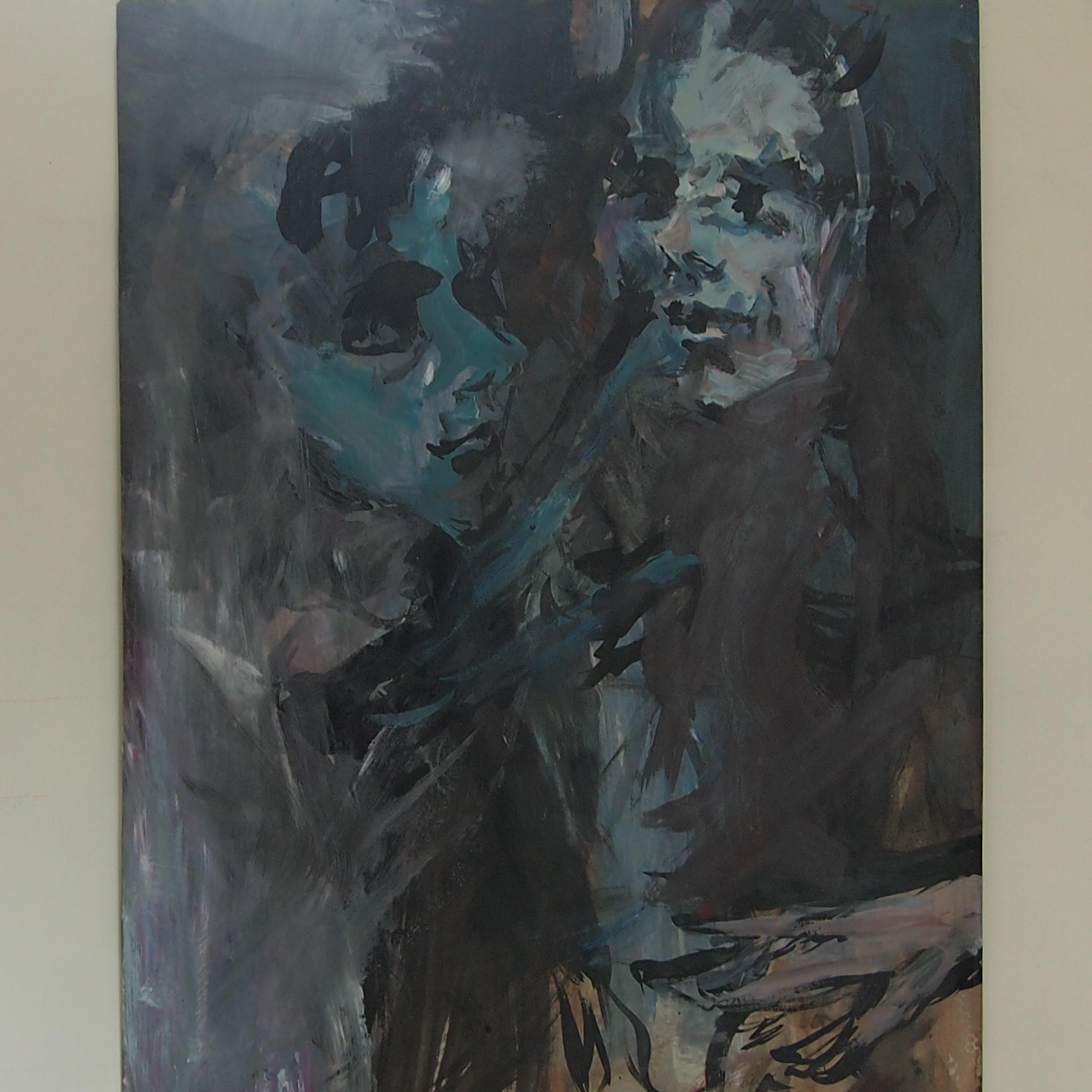 couple encre, acrylique surp papier 65x50