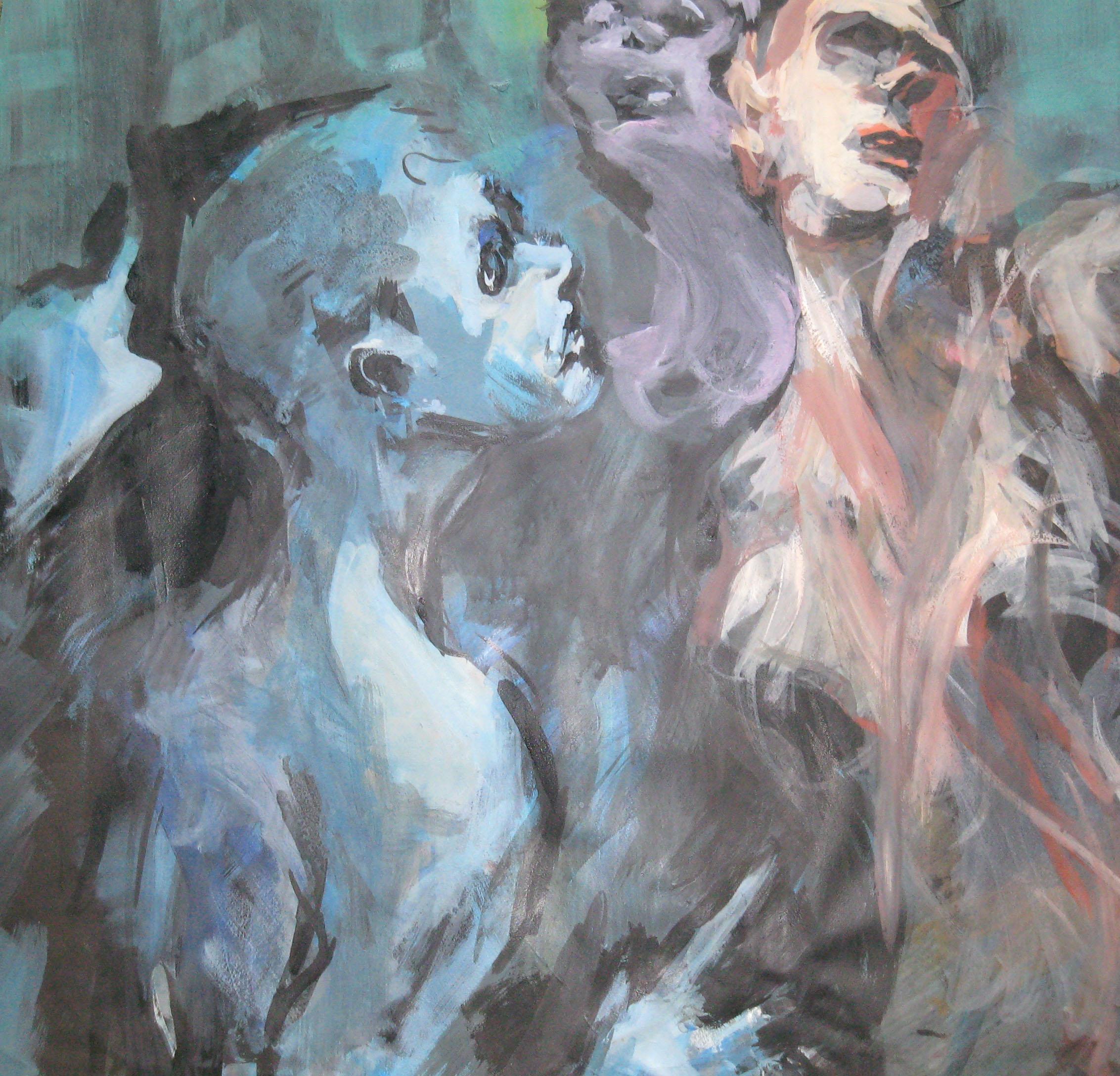 le Sphinx encre,acrylique sur papier 71x70