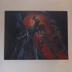la mine encre, acrylique sur papier 65x50