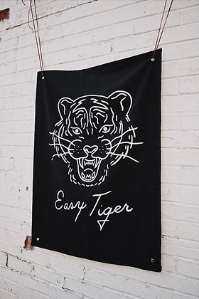 """Easy Tiger"" Black Banner"