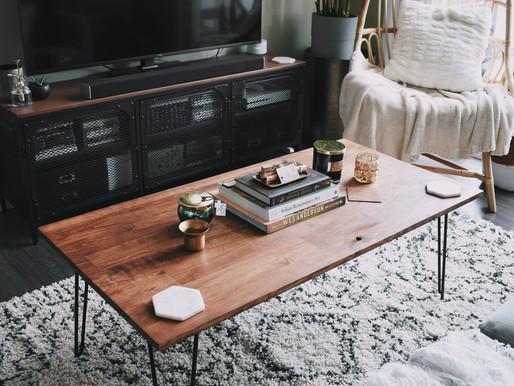 DIY Hairpin Coffee Table - Less Than $60!