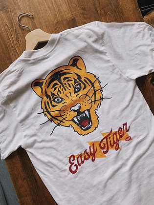 """Easy Tiger"" White Tee"